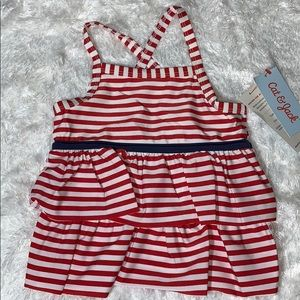 Cat and Jack swimsuit in red and white stripes